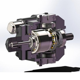 大型收割机静液压驱动系统